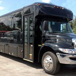 black-shuttle-bus